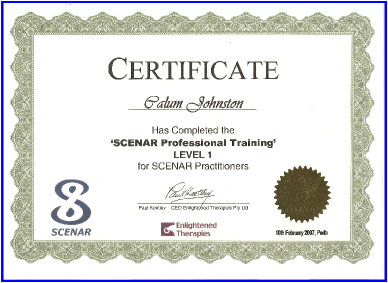 Scenar Therapy Level One Practitioner